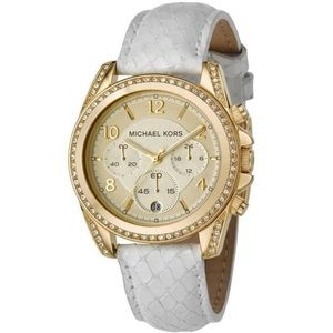 MICHAEL KORS PYTHON EMBOSSED LEATHER Women's watch